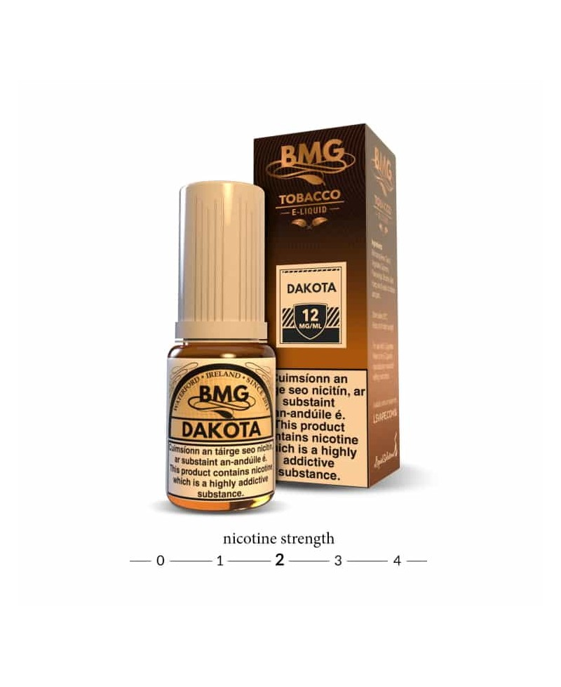 BMG Dakota  E Liquid - Tobacco Vape juice - 12mg