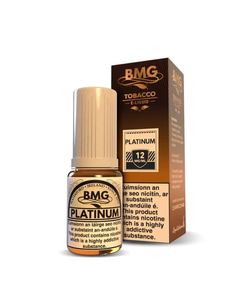BMG Platinum E Liquid - Nicotine Strength: 0-20mg (10ml)